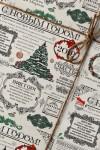 Бумага упаковочная с вашим текстом Новогодние вести