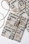 Бумага упаковочная с вашим текстом Вести к 8 марта