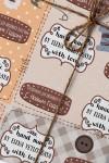 Бумага упаковочная с вашим текстом Hand made