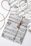 Бумага упаковочная с вашим текстом Музыка