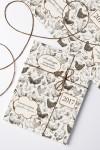Бумага упаковочная с вашим текстом Птицеферма