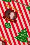 Бумага упаковочная с вашим текстом Candy cane
