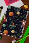 Блокнот в клетку с Вашим текстом Новогодний космос