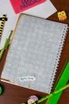 Блокнот в клетку с Вашим текстом Too cool for school
