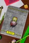 Блокнот в клетку с Вашим текстом Зомби