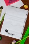 Блокнот в клетку с Вашим текстом Личный дневник