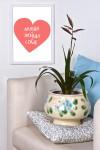 Постер в раме с Вашим текстом Сердце