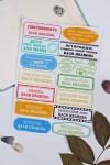 Набор наклеек на учебники с Вашим именем Секретные знания