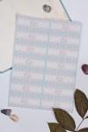 Набор наклеек с Вашим именем Цветочный орнамент