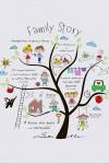 Постер в раме с Вашим текстом Family Story