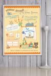 Постер в раме с Вашим текстом Правила детской