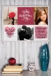 Постер в раме с Вашим текстом Романтичный фотоколлаж