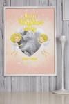 Постер в раме с Вашим текстом Нежность