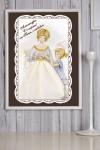 Постер в раме с Вашим текстом Леди