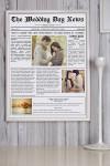 Постер в раме с Вашим текстом и фото Свадебная газета