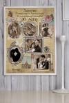 Постер в раме с Вашим текстом и фото Shabby Chic