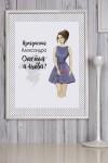 Постер в раме с Вашим текстом и фото Девушка