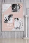 Постер в раме с Вашим текстом и фото Inspiration
