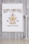 Постер в раме с Вашим текстом и фото Рождественский ангел