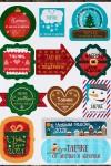 Набор наклеек на подарки с Вашим именем Новогодний сюрприз