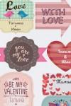 Набор наклеек на подарки с Вашим именем Valentine's day