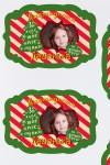 Набор наклеек на подарки с Вашим именем Candy cane