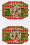 Набор наклеек на подарки с Вашим текстом Рождественский сюрприз