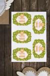 Набор наклеек на подарки с Вашим текстом Пасхальные символы