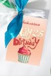 Именной имбирный пряник с пищевым фломастером Happy Birthday!