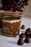 Банка шоколадных конфет с Вашим именем Имбирный домик