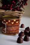 Банка шоколадных конфет с Вашим именем Теплые пожелания