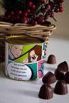 Банка шоколадных конфет с Вашим именем Комикс про любовь