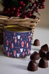 Банка шоколадных конфет с Вашим именем Новогодние игрушки