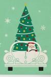 Постер в раме Дед Мороз за рулём