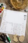Пасхальный набор для декорирования с Вашим текстом С Пасхой!