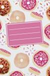 Тетрадь в клетку Пончики