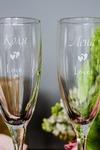 Набор бокалов для шампанского с вашим текстом Love U