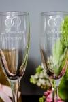 Набор бокалов для шампанского с вашим текстом Кольца