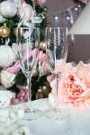 Набор бокалов для шампанского с вашим текстом (длинные) Новогоднее волшебство