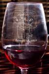 Бокал для красного вина с именной гравировкой Любовь это…