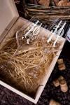 Набор бокалов подарочный с именной гравировкой Юбилей
