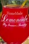 Бокал для коктейля с именной гравировкой Homemade Lemonade