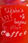 Кружка-банка с Вашим текстом Mason Jar День начинается с кофе