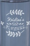 Ваза для цветов с Вашим текстом Flowers