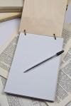 Блокнот с деревянной обложкой с Вашим текстом Для легких мыслей