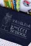 Пенал джинсовый с именной гравировкой Too cool for school