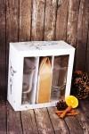 Набор для глинтвейна подарочный с Вашим текстом Новогодний фотоподарок
