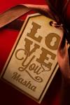 Деревянная бирка с персональной гравировкой Love you