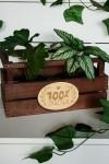 Деревянная бирка 100% счастья