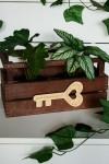 Деревянная бирка с Вашим текстом Ключ